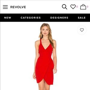 Red Privacy please mini dress. 'Morrow in Poppy'.